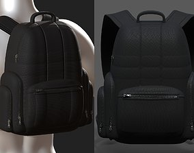 Backpack bag baggage Color 3d low poly Low-poly low-poly