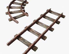 rails for mine 3D asset