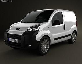 3D Peugeot Bipper Panel Van 2011