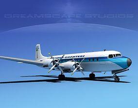 Douglas DC-7C Island Charters 3D model