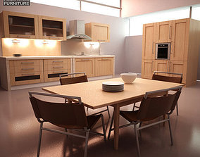 Kitchen Set I1 3D asset game-ready