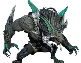 3D model Fenrir Kaunan arma character 2in1