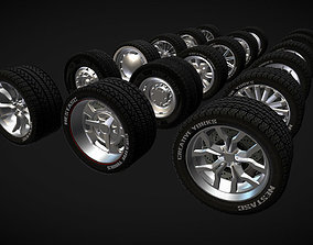 Wheels Pack 1 3D asset