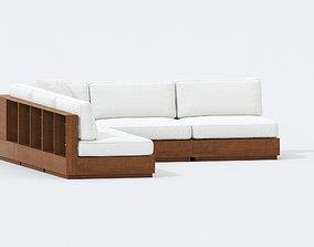 Arhaus Furniture - bal harbour outdoor five piece 3D