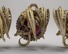 silver pendant Dragon 3D printable model