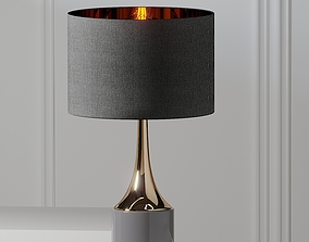 3D model Artistic Home and Lighting Gold Cone Neck Lamp