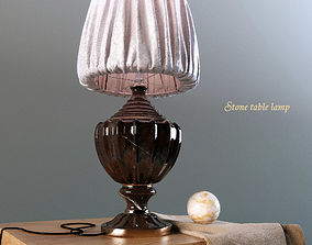3D model Table lamp made of stone