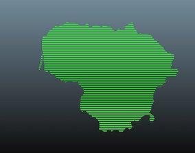 Lithuania map symbols 1 3D model