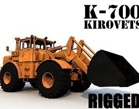 K-700 Kirovets Bulldozer 3D asset