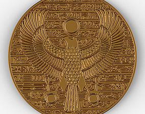 Horus ancient Egypt pendant gold coin 3D print model