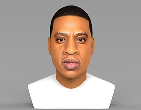 Jay-Z bust ready for full color 3D printing