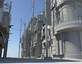 3D Japan Modern Street Scene