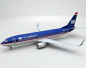 3D Boeing 737-800 NG Airliner - US Airways