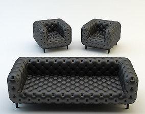 3D model Chesterfield classic sofa armchair chair