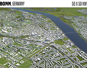 berlin Bonn Germany 3D model