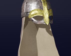 Viking Helmet Medieval 3D Model VR / AR ready