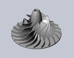 Printable Radial Pump Turbopump Impeller Model