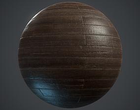 3D asset low-poly Old brickbond Parquet - PBR textures