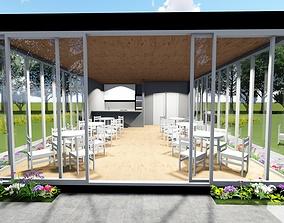 Cafe design architectural 3D model