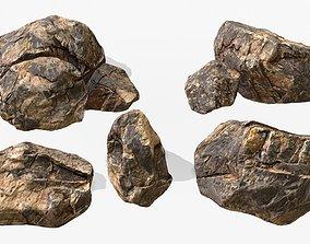 Sandstone Rocks Pack 01 3D asset