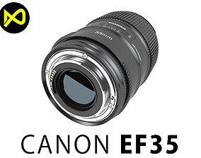 Canon EF 35mm IS USM Lens 3D