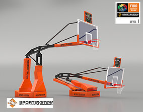 hoop Portable basketball stand 3D