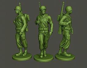 3D printable model American soldier ww2 walk A1