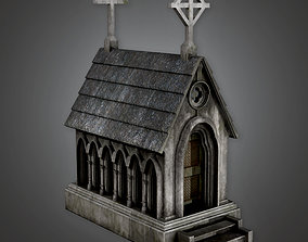 CEM - Cemetery Mausoleum 03 - PBR Game Ready 3D model
