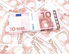 fbx 10 euro banknote packs 3D model
