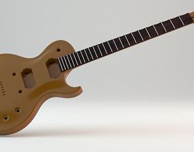 3D print model CNC Ready Les Paul Style Guitar Single Cut