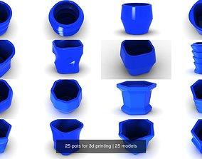 bottle 25 pots for 3d printing
