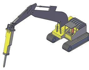 Backhoe hammer 3D print model