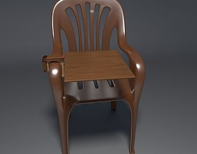 Plastic Chair - 2 3D model