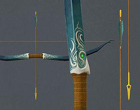 Elven Long Bow 3D model