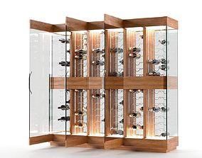 3D model wood Contemporary Wine Cellar
