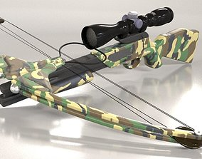 A modern style crossbow with scope 3D
