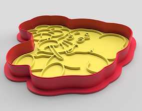 Cookie cutter and stamp - Elephant 3D printable model