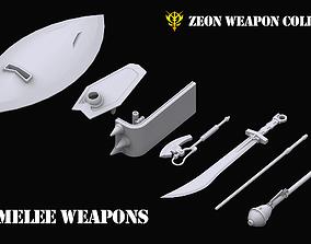 3D Gundam Zeon Melee Weapons