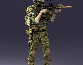army soldier 0722 3D model