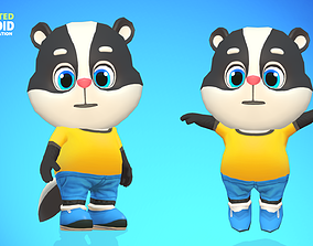 3D model Skunk Animated Rigged
