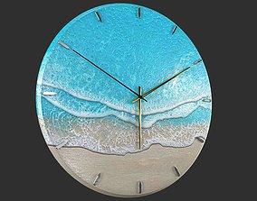 3D model Clock Sea Wave
