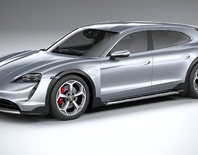 3D Porsche Taycan 4S Cross Turismo 2021
