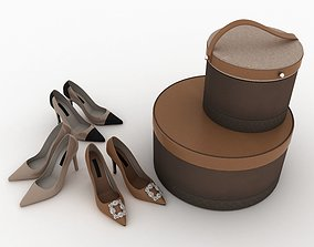 Shoes and Boxes 3D leather