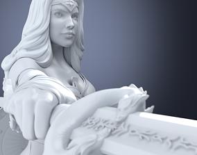 Wonder Woman 3D print model woman