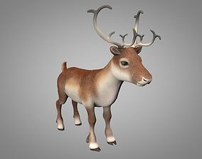 3D asset Reindeer or Christmas Deer