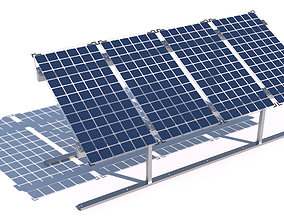 3D model Bifacial solar panels - Static