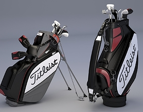 Titleist Golf Bags Tour Staff 3D model