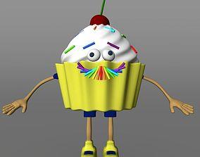 3D model crazy cartoon cake