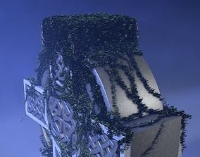 Celtic Cross With Ivy 3D model