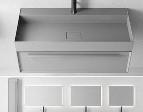 3D asset Falper 7 0 Set 2 Wall-mounted vanity unit with